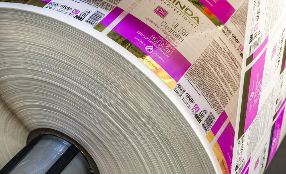 Бумажные этикетки в рулоне